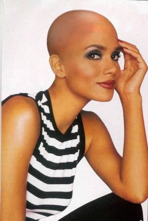 Halle berry shaved head
