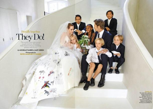 Свадьба джоли и питта фото