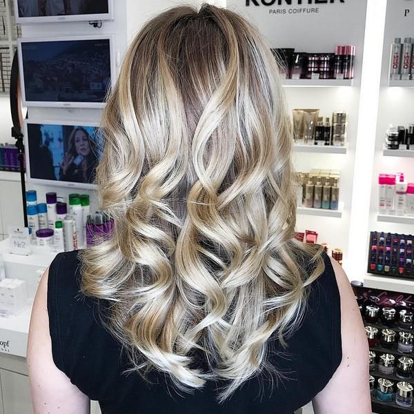 Окрашивание шатуш на русые волосы
