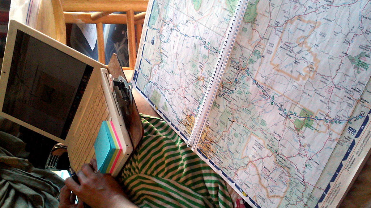 Better way of using GPS: Annotate a physical map