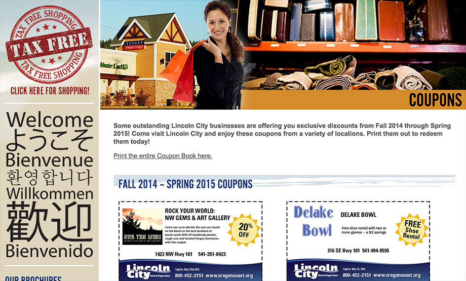 Lincoln City Coupons