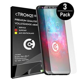 cTRON21® Schutzfolie Samsung Galaxy S8 [Vollständige Abdeckung] Display Folie TPU Displayschutzfolie [Keine Bläschen] Hüllen freundlich - 1