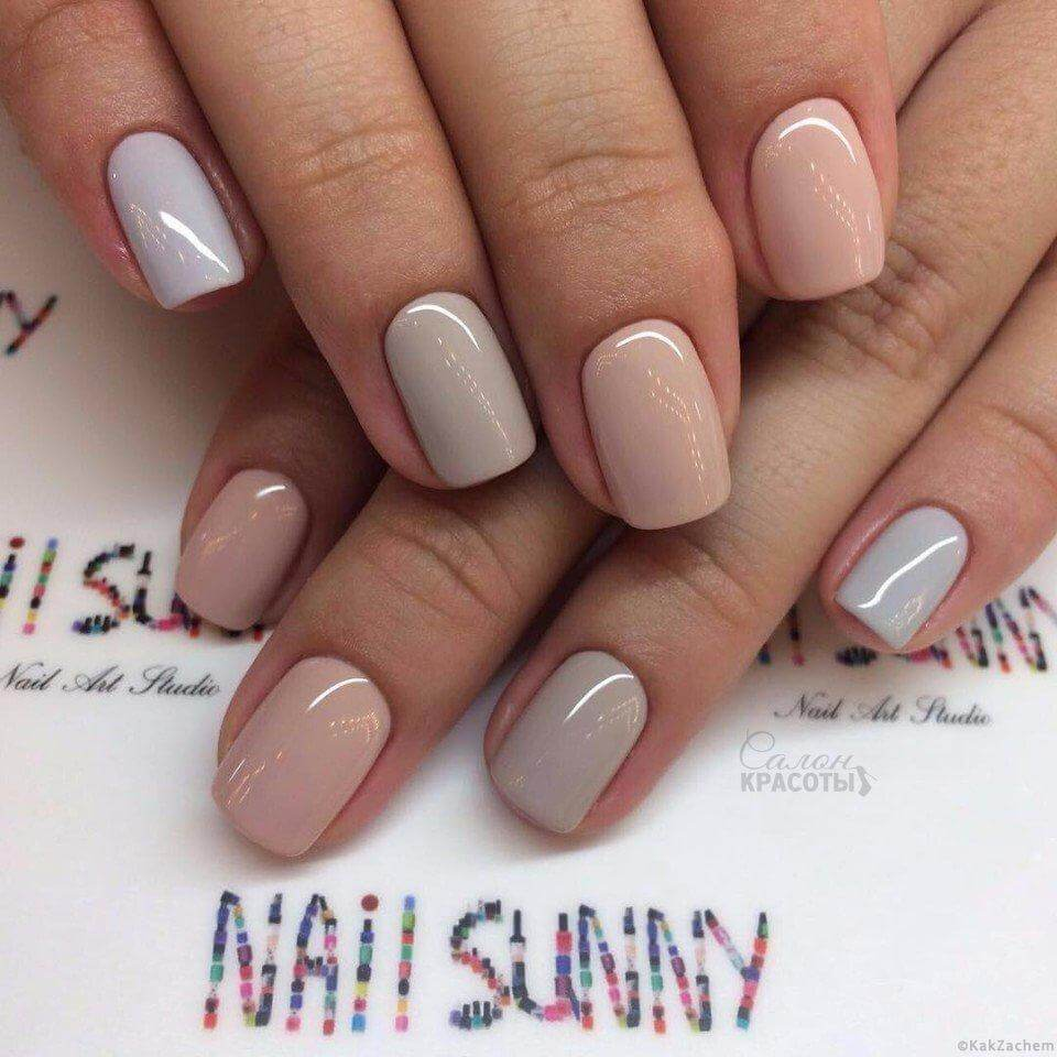 Handful of Shiny Nude Nail Colors