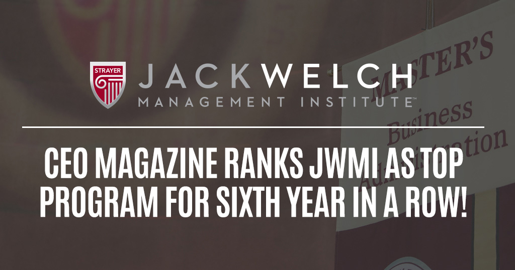 Jack welch management institute strayer university
