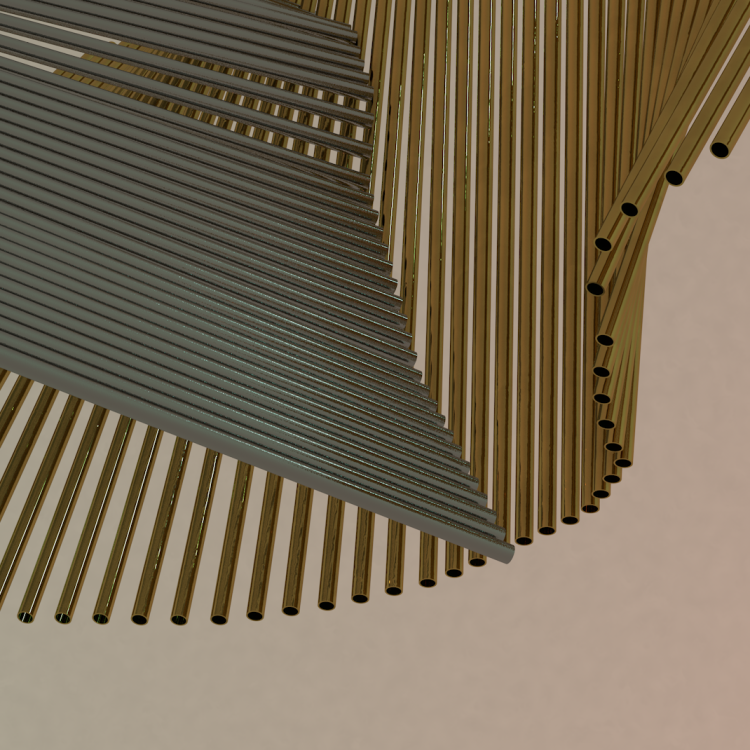 Artwork - Pipe shapes created in MAXON Cinema 4D