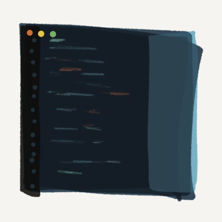 Artwork - A digital painting of a simple IDE.