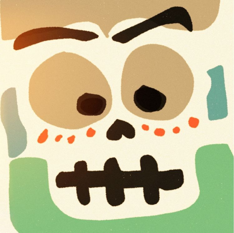 Artwork - Day of the dead painting on Paper on iPhone