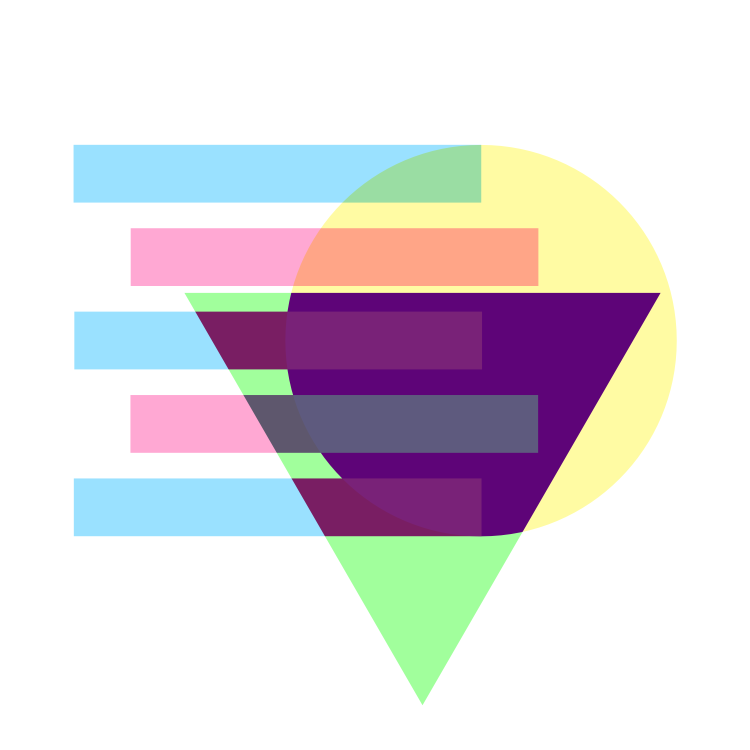 Artwork - Overlaping shapes with subtracting layers created in Affitiny Designer