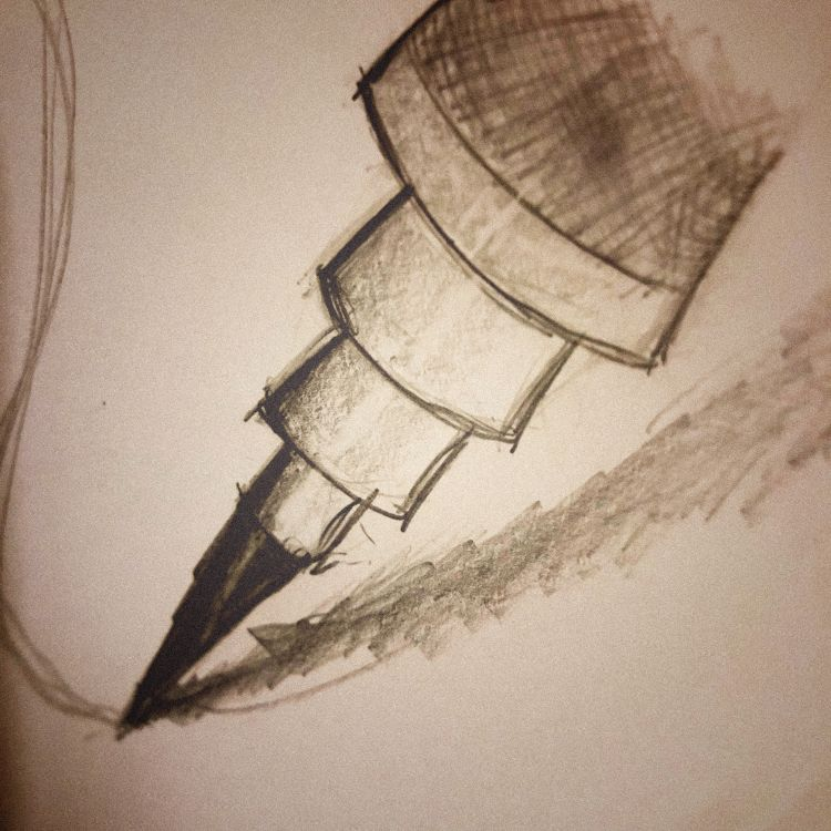 Artwork - Sketch of mechanical Rotring drafting pencil on pencil and paper