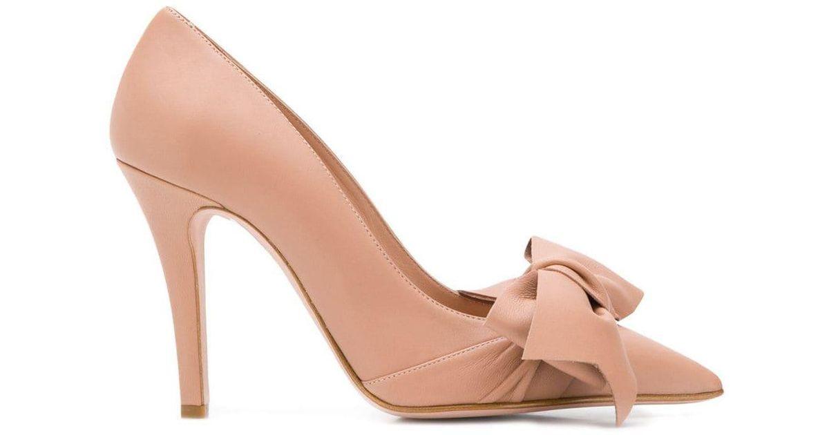 Valentino pink bow pumps