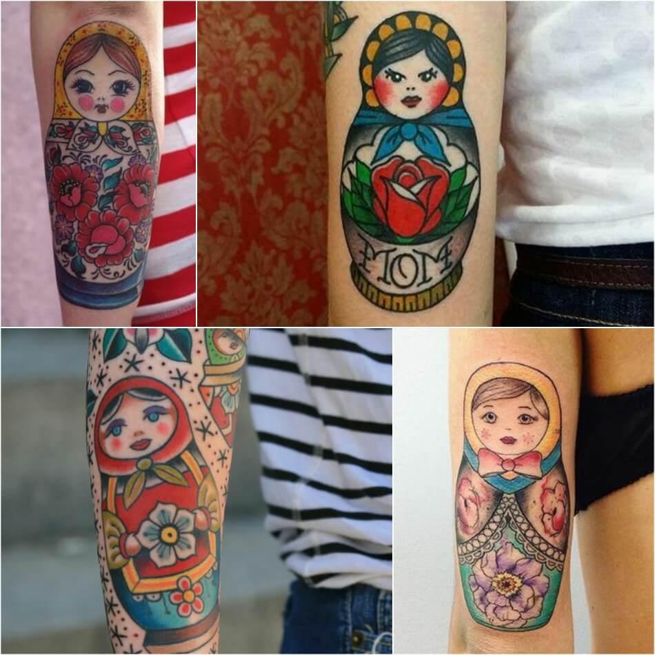 Татуировка матрешка значение