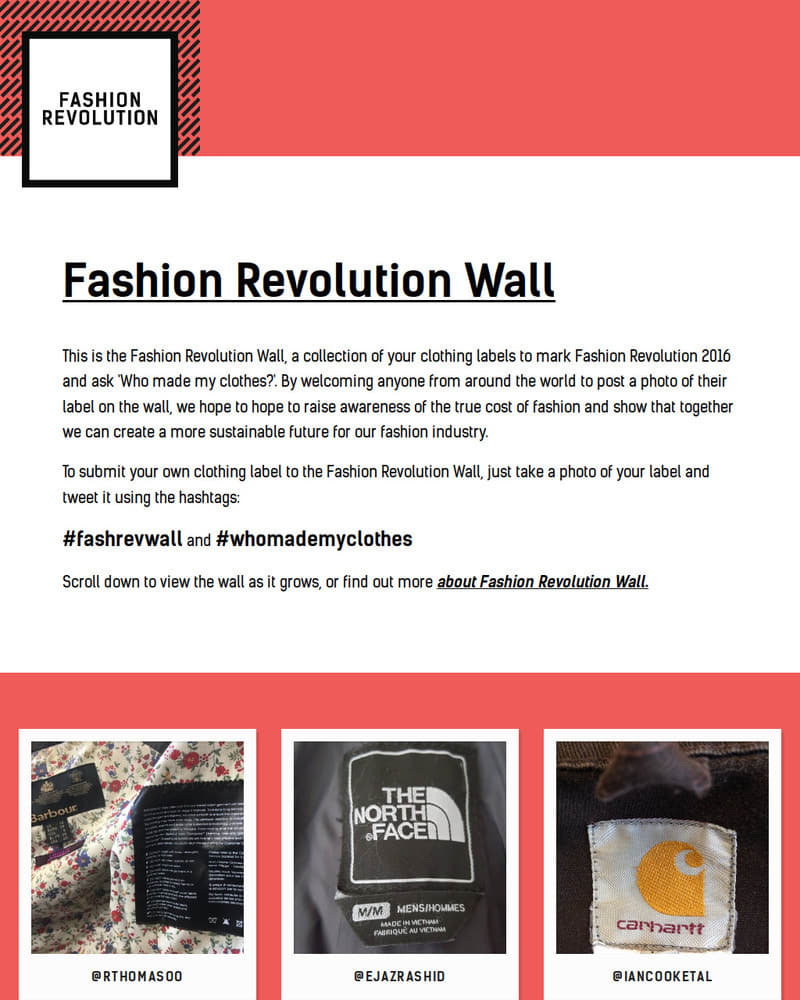 Project Image for Fashion revolution Wall