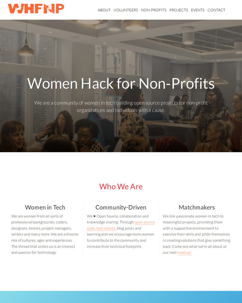 Project Image for Women Hack for Non-Profits