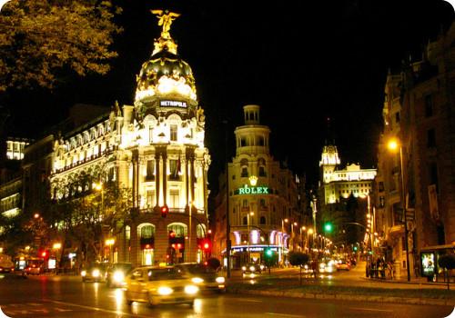 Resultado de imagen de calles Madrid noche