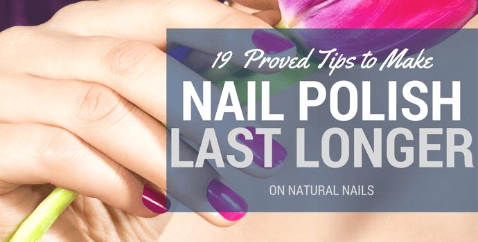 Long lasting nail polish natural nails