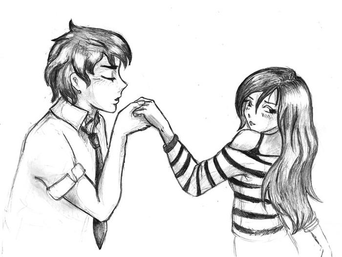 Девочка и мальчик как нарисовать