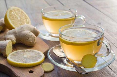 Фото: чай с имбирем и лимоном