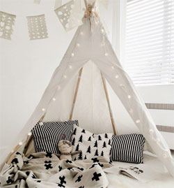 + Donu0027t Forget to Add Teepee Lights Too! : childrens teepee tents - memphite.com