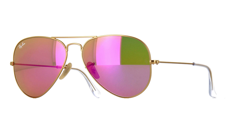 Ray ban aviator pink mirror