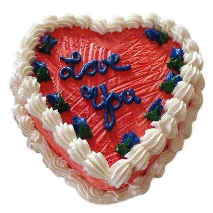 Heart Shape Valentine Cake Half kg