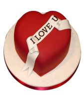 Red Heart Love You Cake 1kg