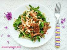 Салат из сердца со шпинатом
