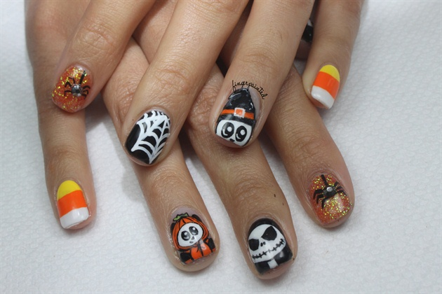 Pictures of halloween gel nails