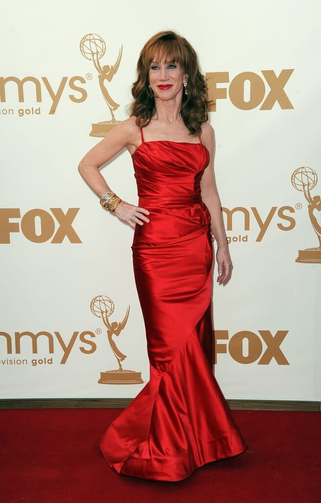 Kathy Griffin red hot dress