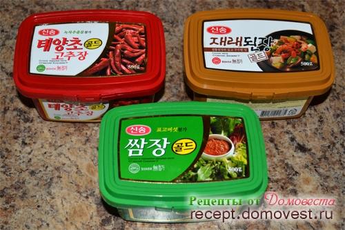Корейские соусы и приправы