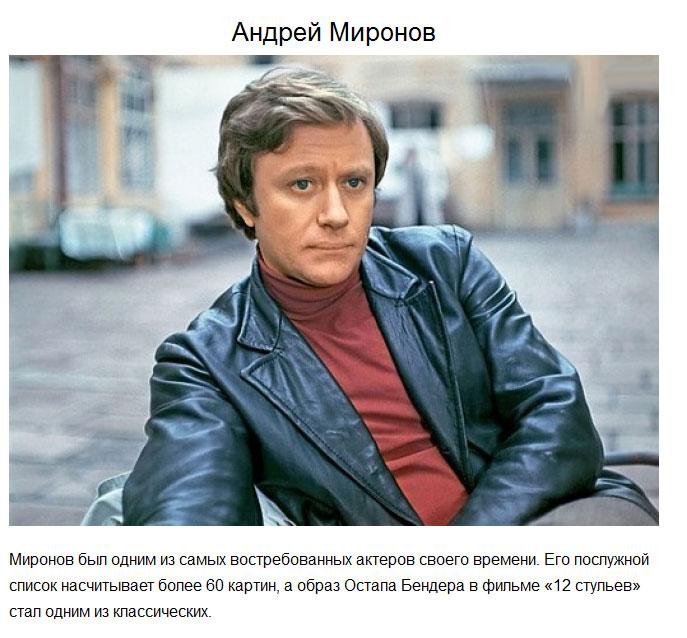 Советские актеры фото мужчины с именами