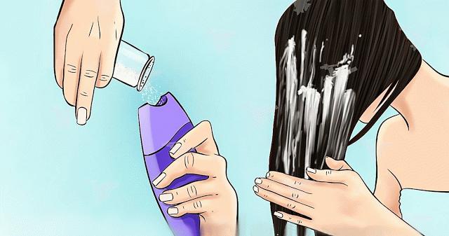 Добавить соль в шампунь что будет