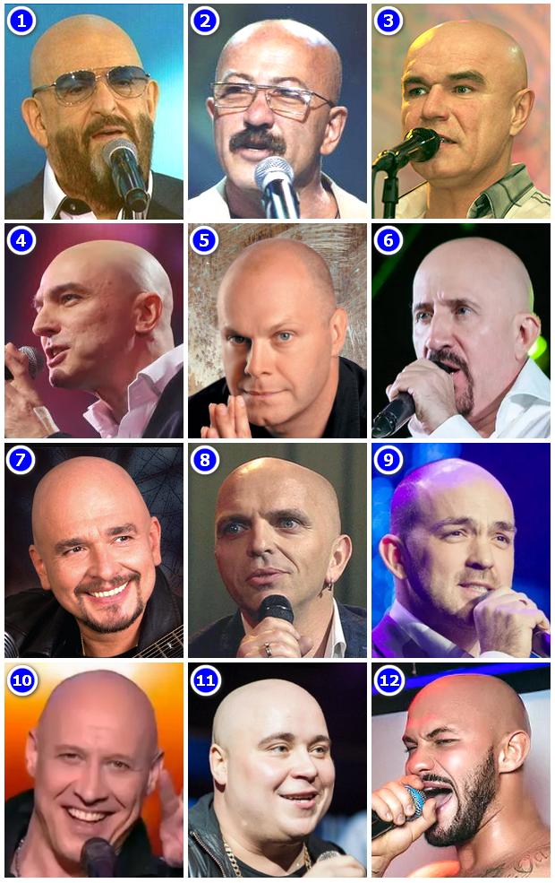 Лысые русские певцы
