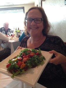 Sarasota psychologist Dr Wendy Jacobs says the Chicken Milanese on Andrea's summer menu is the best in town.