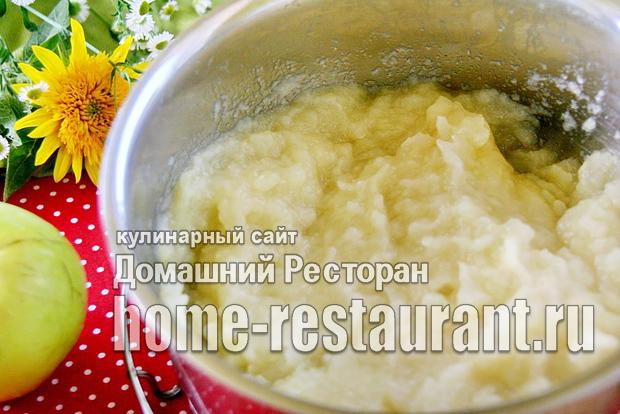 Рецепт яблочного пюре неженка со сгущенным молоком