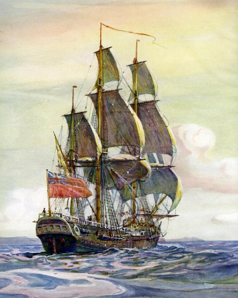 Джеймс кук на корабле фото