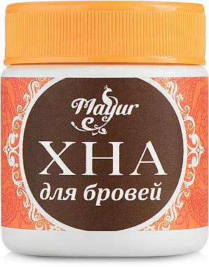 Хна для бровей, темно-коричневая - Mayur