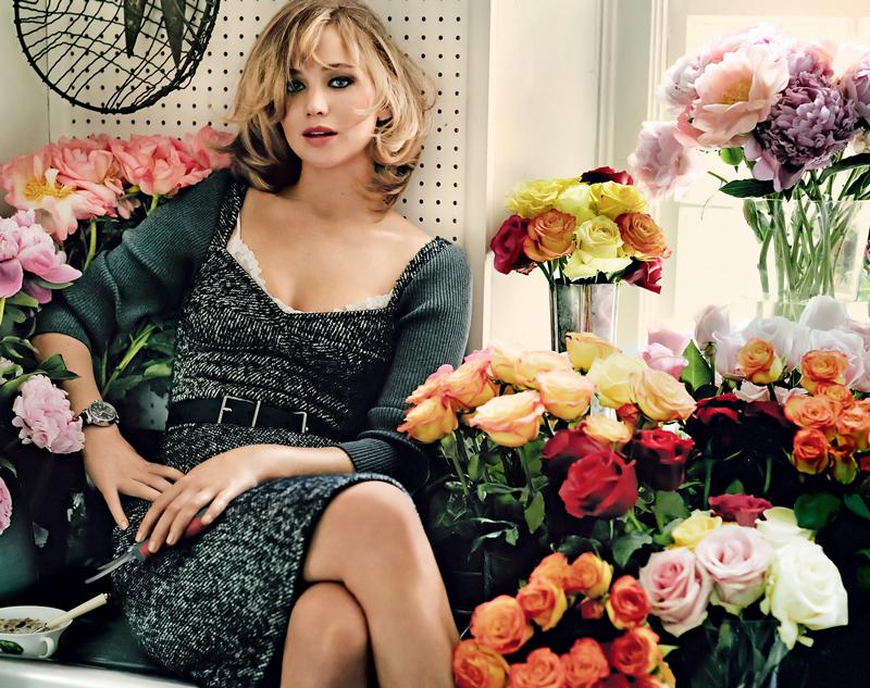 80 фото Дженнифер Лоуренс с цветами