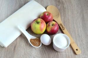 Слойки с яблоками из дрожжевого слоеного теста рецепты с фото