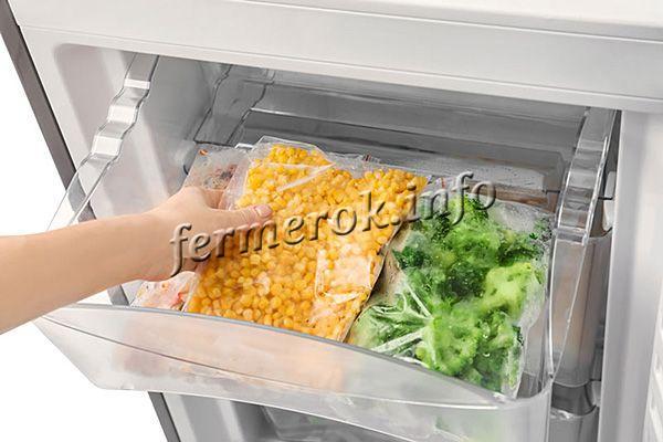 Можно заморозить кукурузу
