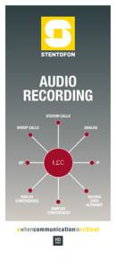 Recording Intercom Conversation