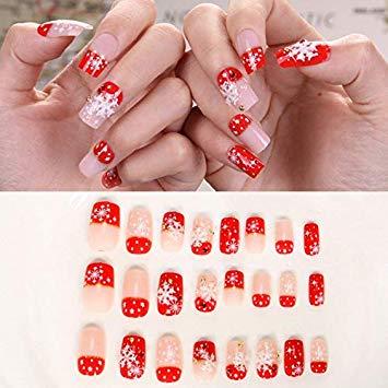 Christmas nails false