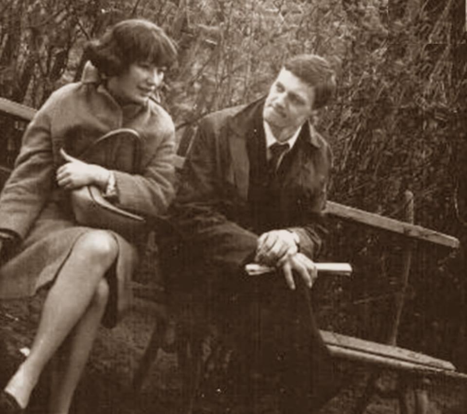 Миколас орбакас с женой