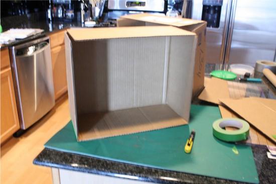 Подготовка коробки