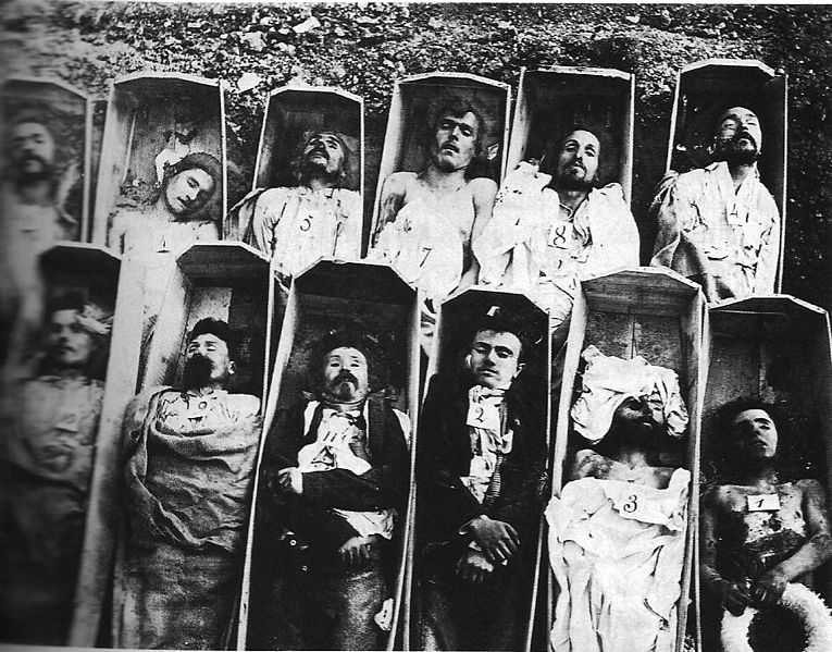 Pictures of celebrities in their coffins