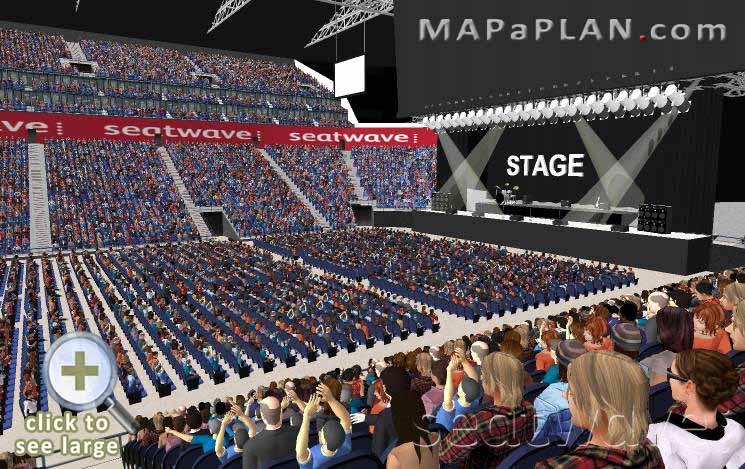 The O2 Arena London seating plan Block 111 Row Q Exact view