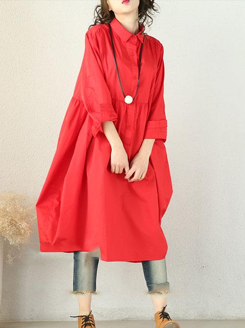 платье-туника с завышенной талией