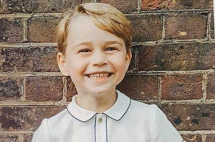 Кейт Миддлтон и принц Уильям прислали поклонникам портрет принца Джорджа