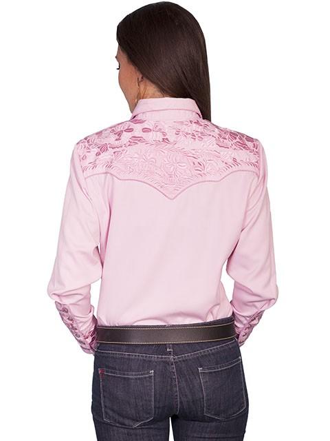 Pink western show shirts women