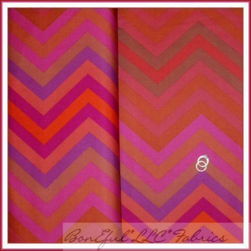 Pink and black chevron fabric
