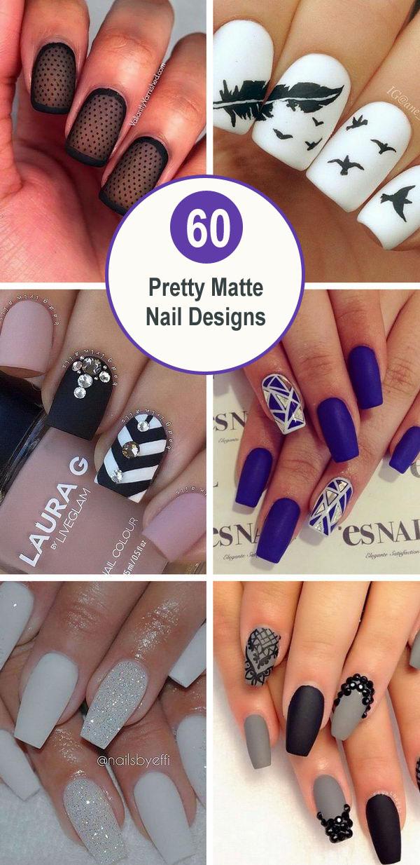 Baby blue matte nails